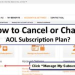 how to cance or change aol subscription plan