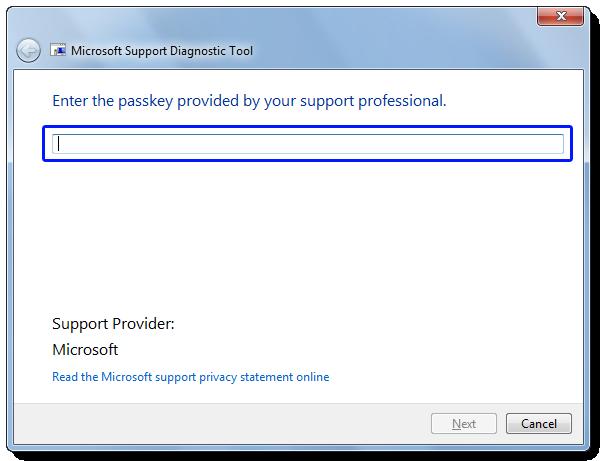 Microsoft Support Diagnostic Tool