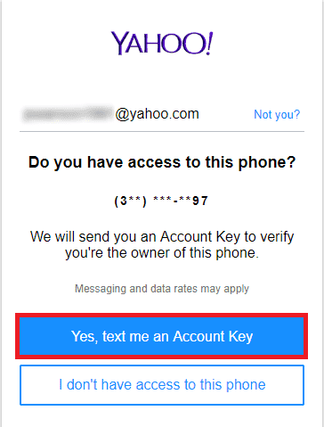 yes, text me an account key