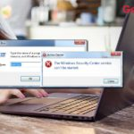 windows security center service cant be started error fixed