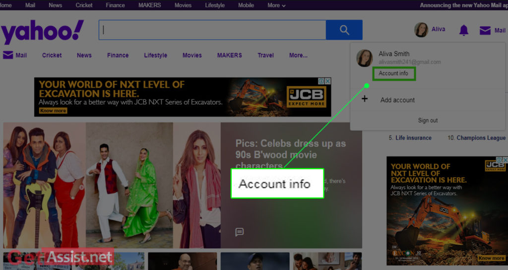 Yahoo Account info