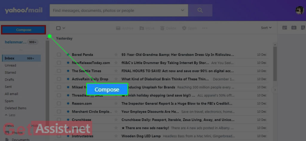 Click on Compose mail