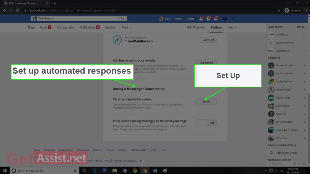 Set up Automated Responses