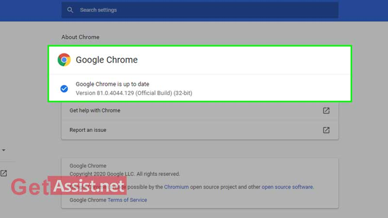 Check if Google Chrome is up to date