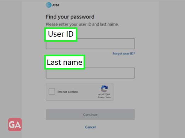 Enter your Bellsouth User ID and Password