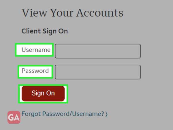 wells fargo username & password