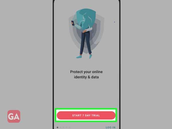 Start 7 days trial in surfshark VPN