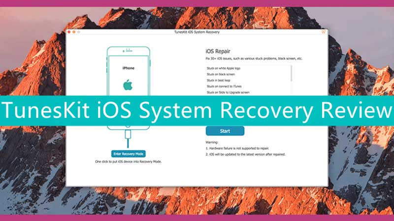 Review of TunesKit iOS System Recovery Tool