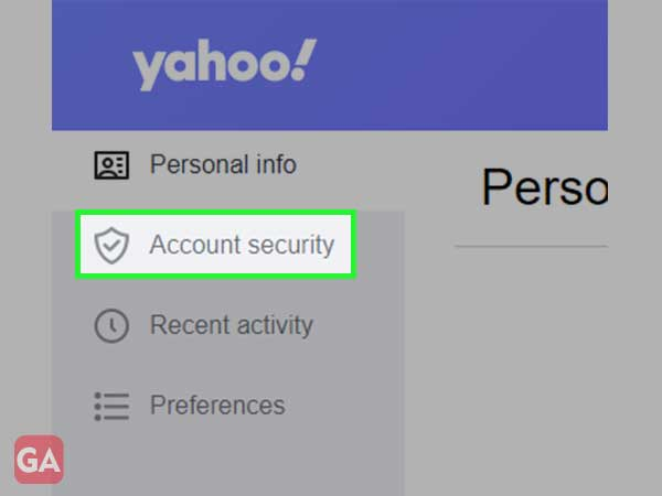 click on account security