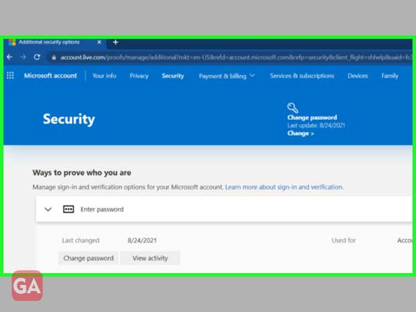 Click on the 'Turn Off' option under the Two-Step Verification section