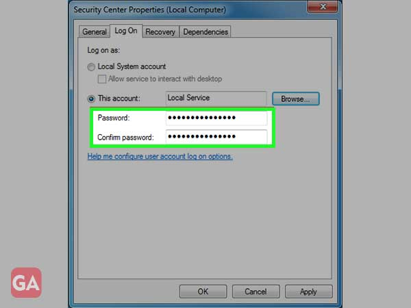 Enter the password, confirm the same and click 'Ok' to proceed